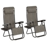 Garett Reclining Zero Gravity Chair with Cushion (Set of 2)