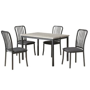 Gillispie Metal Frame 5 Piece Dining Set