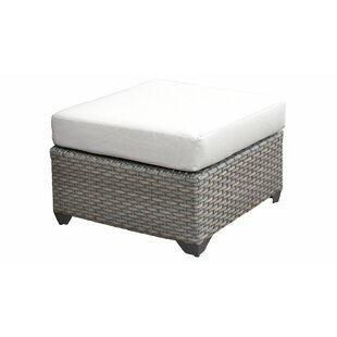 TK Classics Florence Ottoman with Cushion