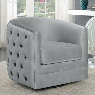 Comparison Cohasset Swivel Barrel Chair by Everly Quinn Reviews (2019) & Buyer's Guide