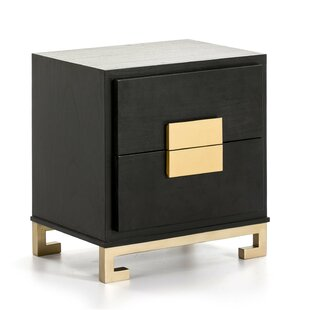 Willenhall 2 Drawer Bedside Table By World Menagerie