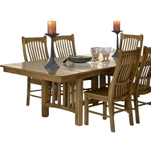 Linda Extendable Dining Table Millwood Pines
