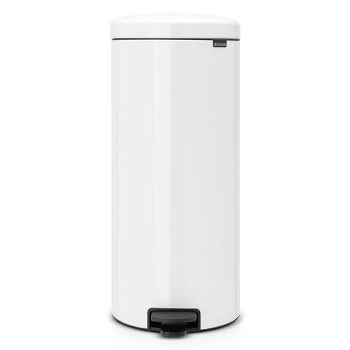 30 L Step-On Mülleimer New Icon aus Edelstahl | Küche und Esszimmer > Küchen-Zubehör > Mülleimer | Weiß | Kunststoff | Brabantia