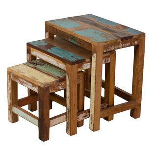 Saraghna 3 Piece Nesting Table Set by Bungalow Rose