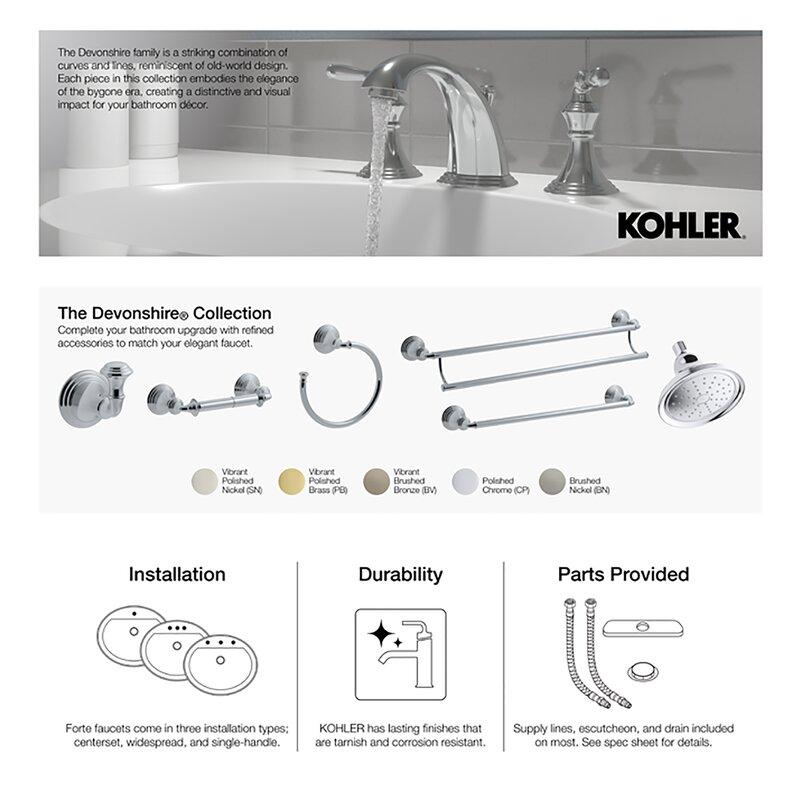 K 389 Bn Cp 2bz Kohler Devonshire 4 7 16 Diverter Bath Spout With Npt Connection Reviews Wayfair
