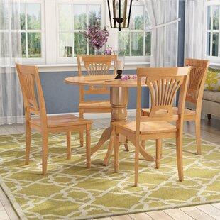 Charlton Home Almendarez 5 Piece Drop Leaf Breakfast Nook Dining Set
