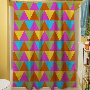 Triangles Single Shower Curtain