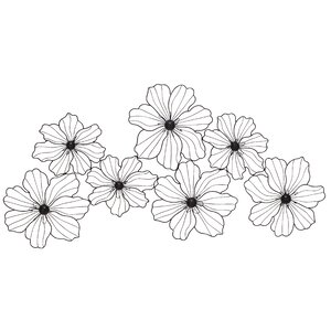 Flowers Metal Wall Decor