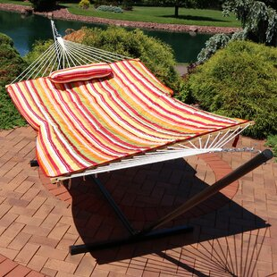 Kewstoke Stripe Polyester Quilted Hammock Pad and Pillow Set