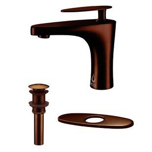 Nezza Cobra Bathroom Faucet, Pop-up Drain without Overflow and Deck Plate