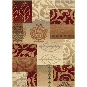 Impressions Red Multi Classic Collage Rug