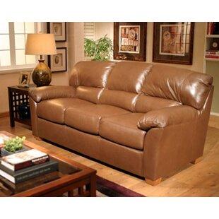 Omnia Leather Cedar Sleeper Heights Leather Configurable Living Room Set