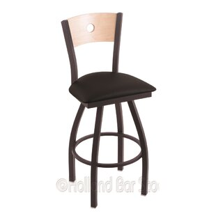 Lareau 25 Swivel Bar Stool Red Barrel Studio
