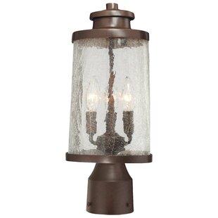 Savings Traditional Outdoor 3-Light Oval Lantern Head By Latitude Run