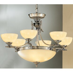 Lauren 9-Light Shaded Chandelier by Classic Lighting