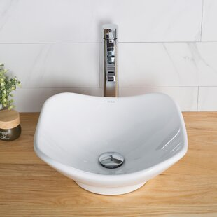 Inexpensive Ceramic Ceramic Specialty Vessel Bathroom Sink with Faucet By Kraus