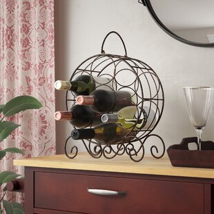 Archer Metal 7 Bottle Tabletop Wine Bottle Rack
