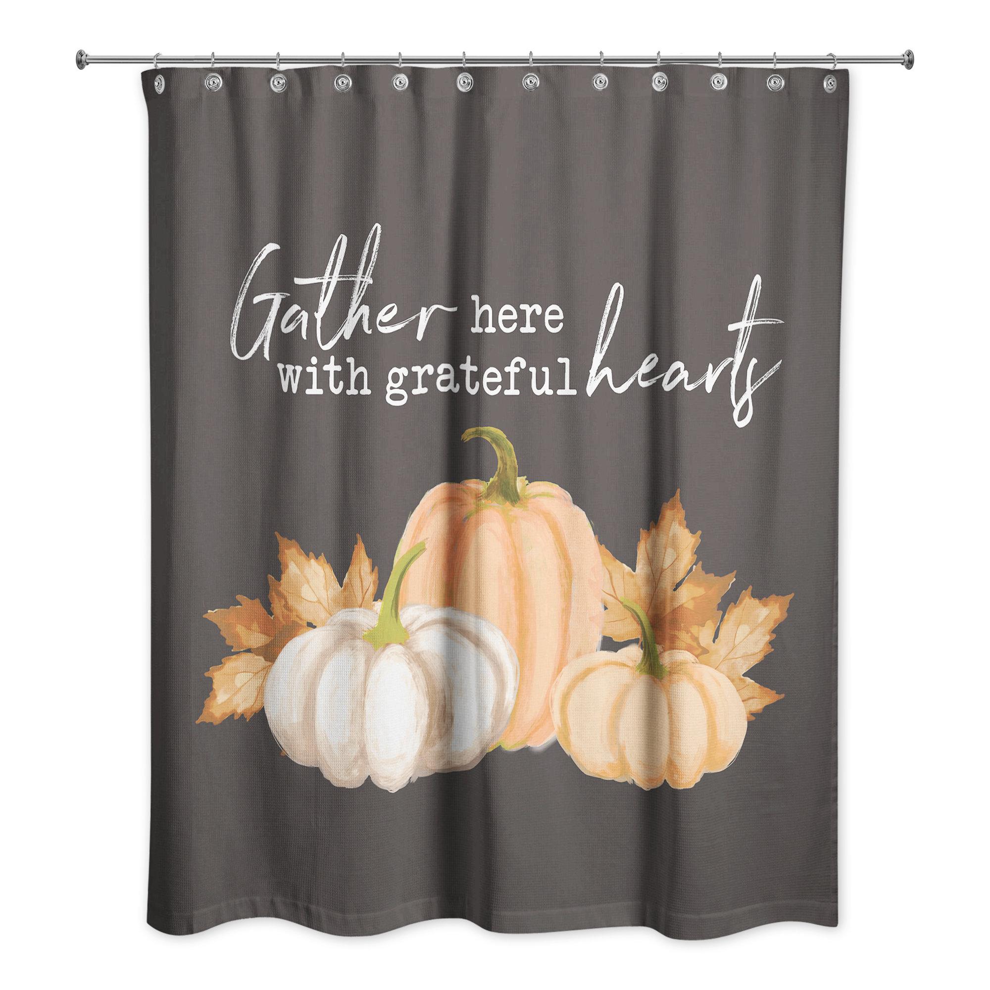 Gracie Oaks Valdes Gather Here Single Shower Curtain Wayfair