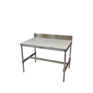 Aluminum I Frame Prep Table with Back Splash and Poly Top by PVIFS