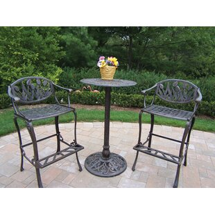 Brayden Studio Farrior 3 Piece Bar Height Dining Set