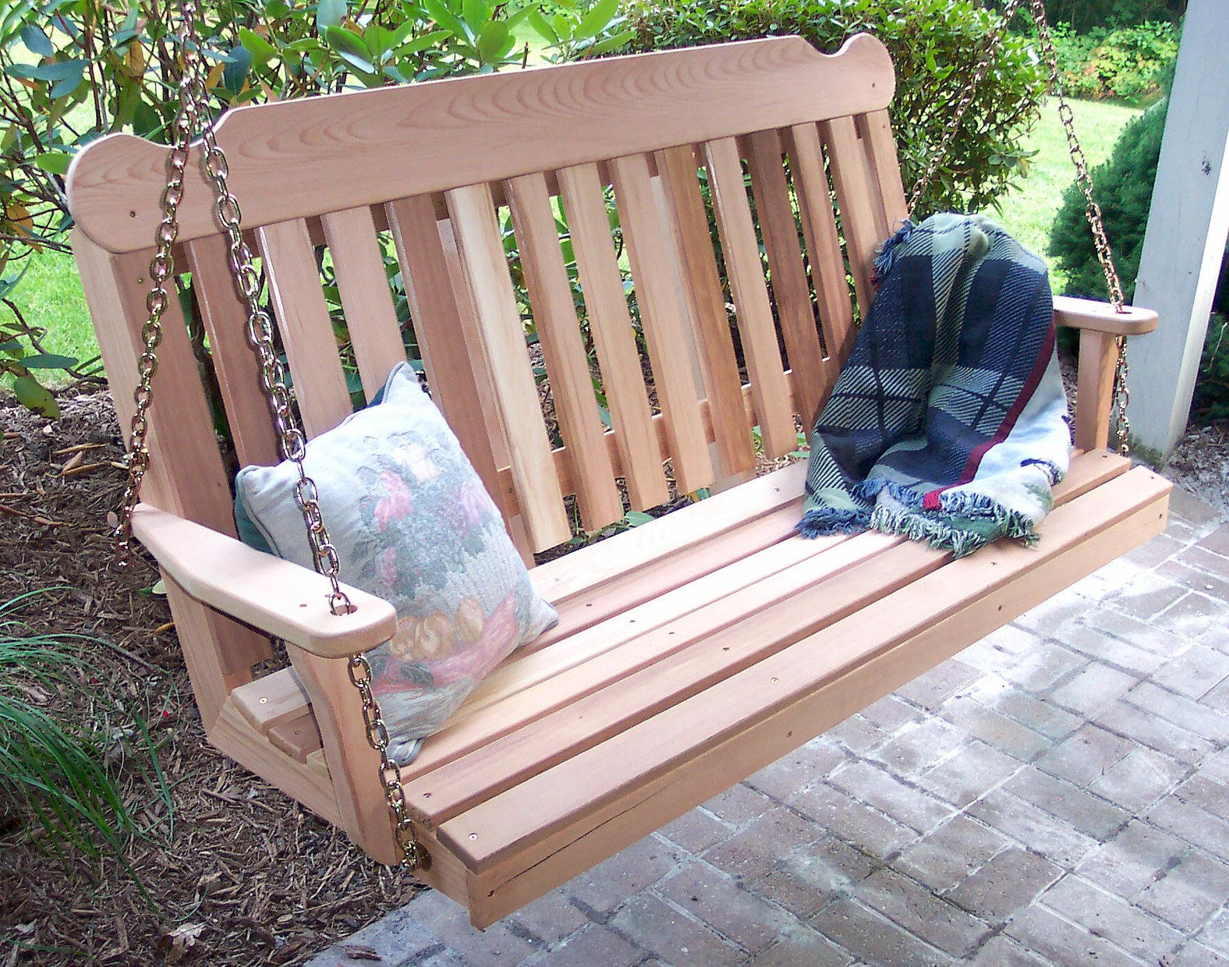 Cedar Porch Swing by Creekvine Designs Creekvine