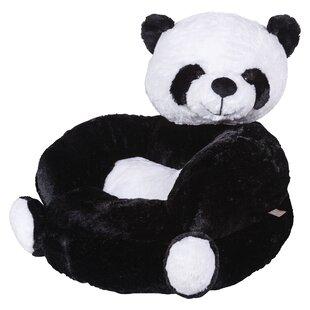 Online Reviews Vandenberg Plush Panda Character Kids Faux Fur Chair ByHarriet Bee