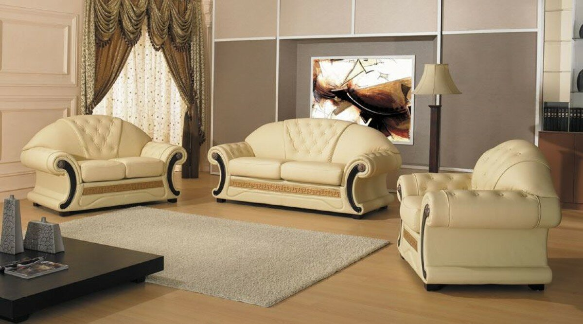 Delightful Bloomsbury Market Crase Traditional 3 Piece Leather Living Room Set |  Wayfair