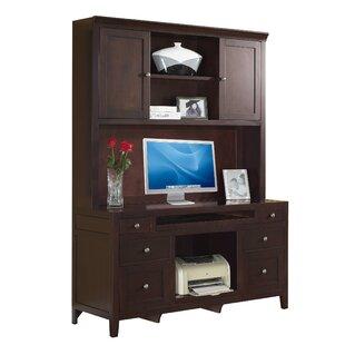 Fairfax Home Collections Companion Credenza Desk with Hutch in Cherry