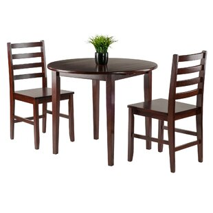Kendall 3 Piece Drop Leaf Wood Dining Set by Alcott Hill Amazingt