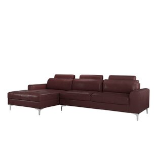 Orren Ellis Kampmann Leather Sectional