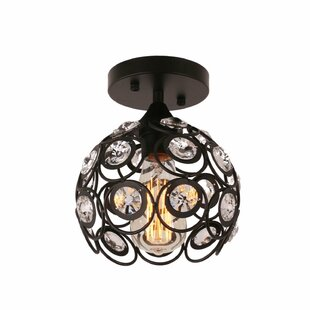 Bryanna 1-Light Semi Flush Mou..
