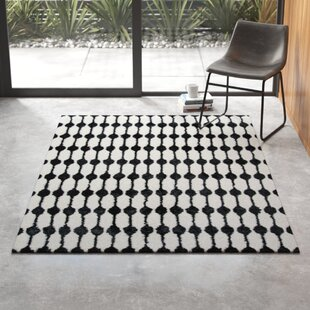 Contemporary Black And White Rug