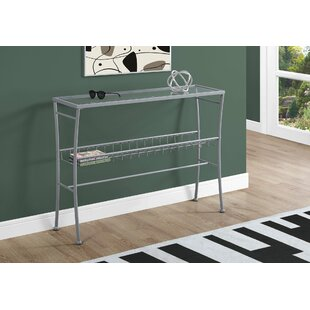 Winston Porter Cantin Tempered Glass Console Table