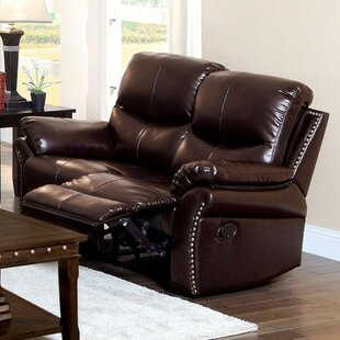Gatling Bonded Reclining Loveseat by Red ..