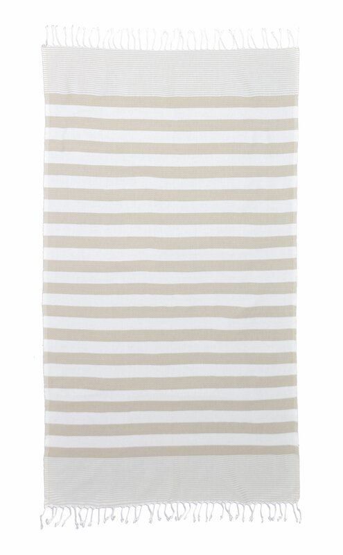 Hannah Pestemal Turkish Bath Towel - Shop Drew's Honeymoon House {Jonathan's Guest Suite} #turkishtowel #stripetowel