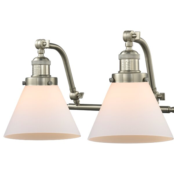 Williston Forge Bonomo Cone 2 Light Vanity Light Wayfair