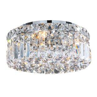 Price comparison Anjali 4-Light Crystal Flush Mount By Willa Arlo Interiors