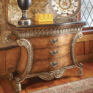 Durling 3 Drawer Chest with Fossil Stone Top By Astoria Grand