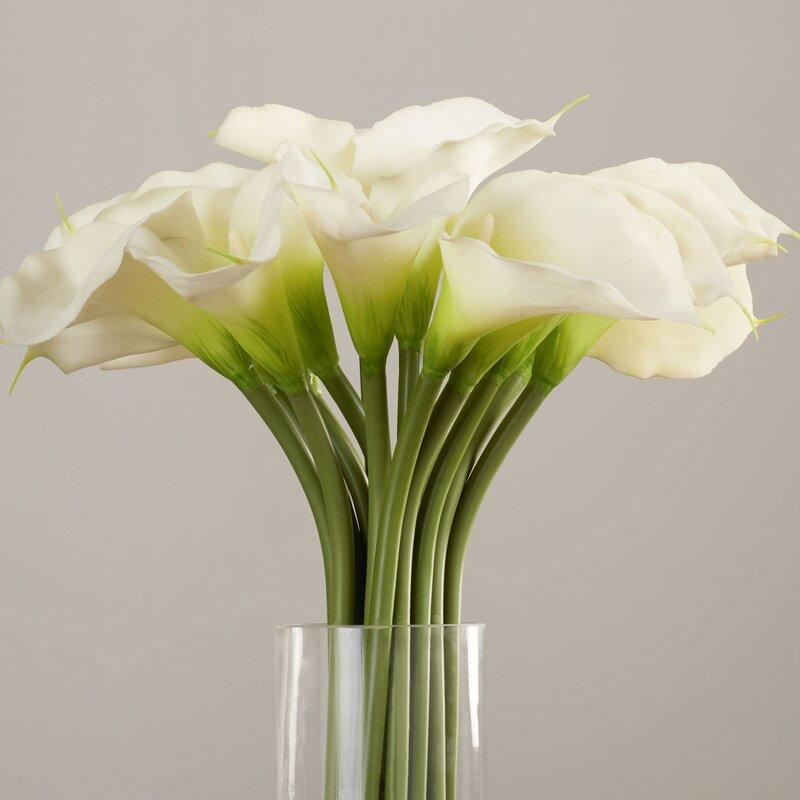 Willa arlo interiors calla lily in cylinder silk flower arrangement calla lily in cylinder silk flower arrangement mightylinksfo Choice Image