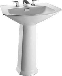 Soiree Vitreous China 26 Pedestal Bathroom Sink with Overflow Toto