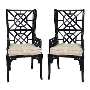 Bay Isle Home Waddell Wing Back Arm Chair (Set of 2)