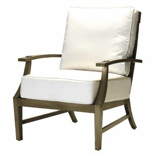 Croquet Lounge Patio Chair with Cushions by Summer Classics