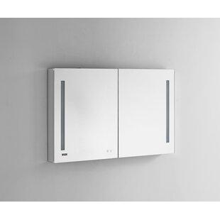 Donnelly 48 x 30 Recessed or Surface Mount Frameless Medicine Cabinet with 3 Adjustable Shelves and LED Lighting By Orren Ellis