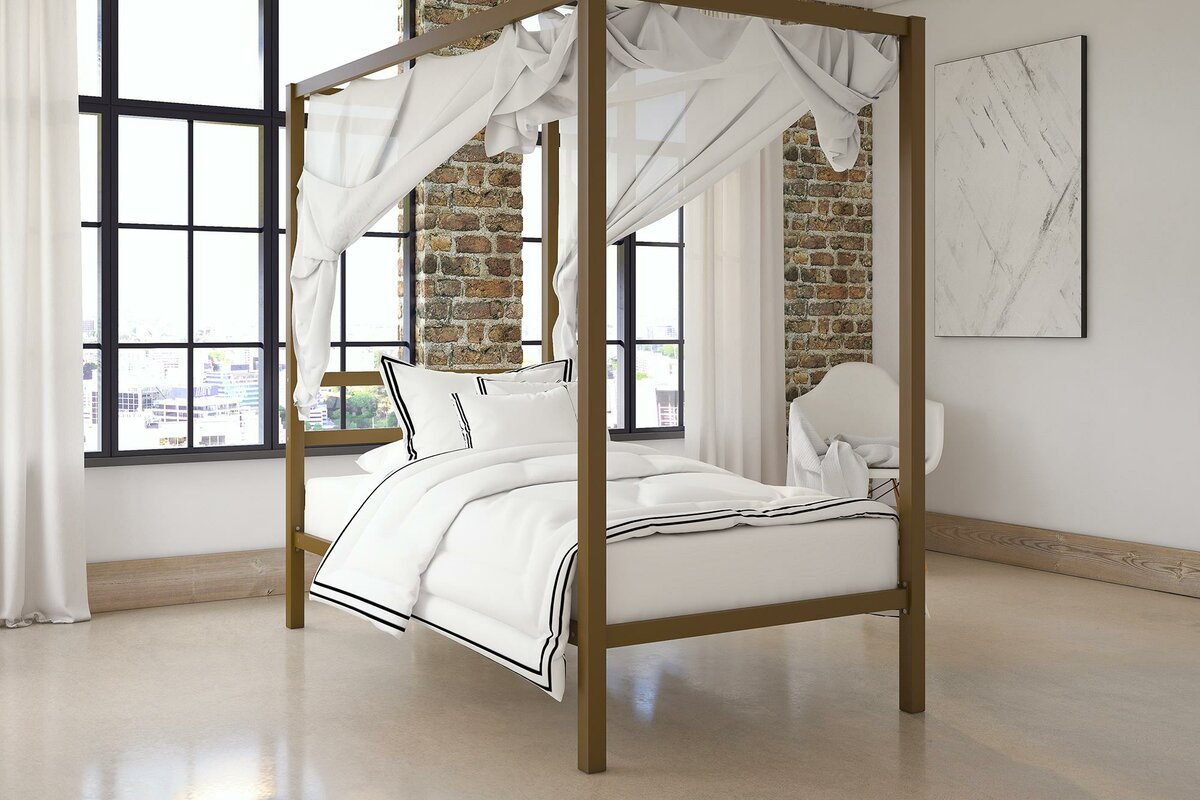 Mercer41 Stanley Canopy Bed & Reviews | Wayfair