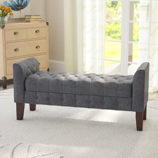 Three Posts Aimee Upholstered Storage Bench