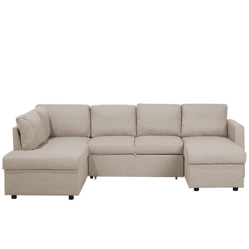 Ebern Designs Odette Corner Sofa Bed