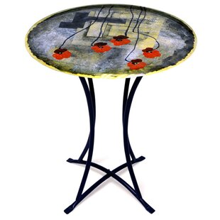 Fused Art End Table by Jasmine Art Glass