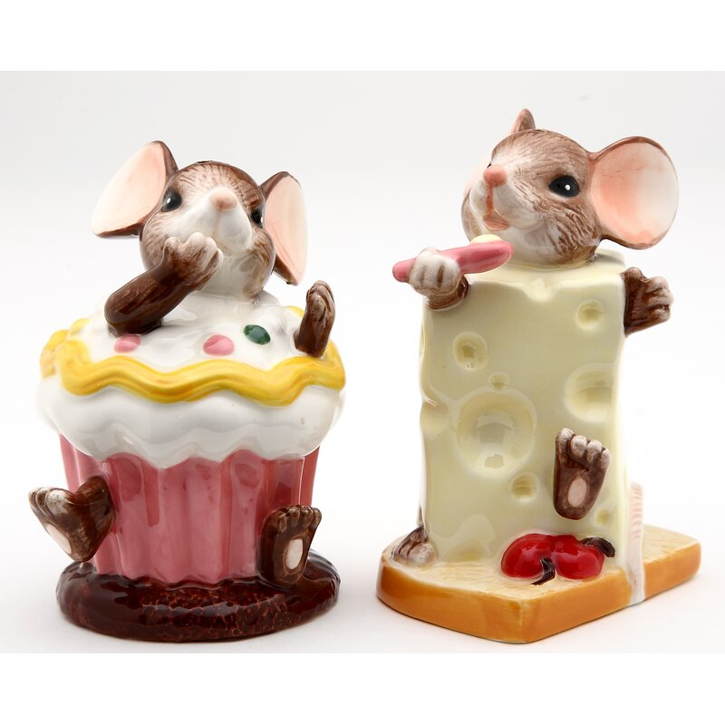 Cosmosgifts Cosmos Gifts Mice With Chesse Salt And Pepper Shaker Set Wayfair