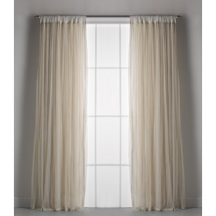 Weinman Solid Sheer Rod Pocket single Curtain Panel by Ophelia & Co.
