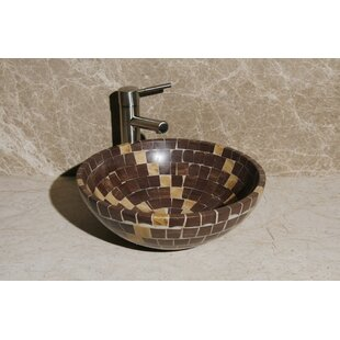 Deals Stone Circular Vessel Bathroom Sink By Allstone Group
